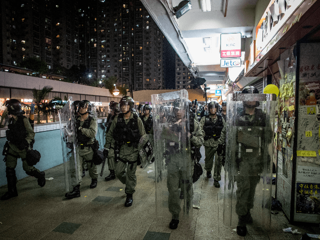 Hundreds of Protesters Return to Suburban Hong Kong Mall Where Police Brutalized Them