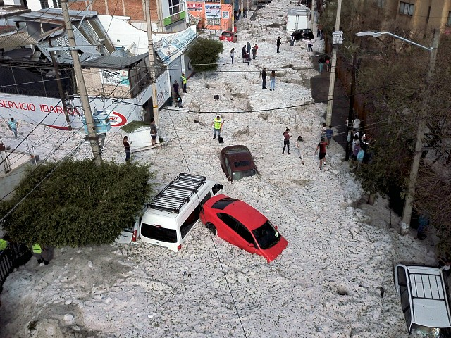 Sudden Summer Hailstorm Puts Guadalajara, Mexico, on Ice
