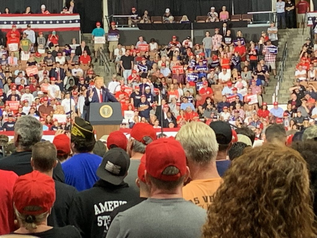 Fire Marshal Fact-Checks Fake News About Trump New Hampshire Rally Attendance