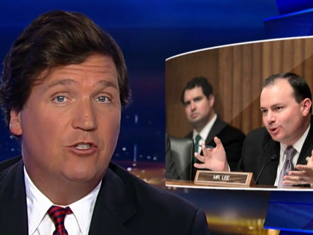 Tucker Carlson Examines Sen. Mike Lee's Evolution on Google -- 'Maybe It's Every Bit as Corrupt as It Seems'