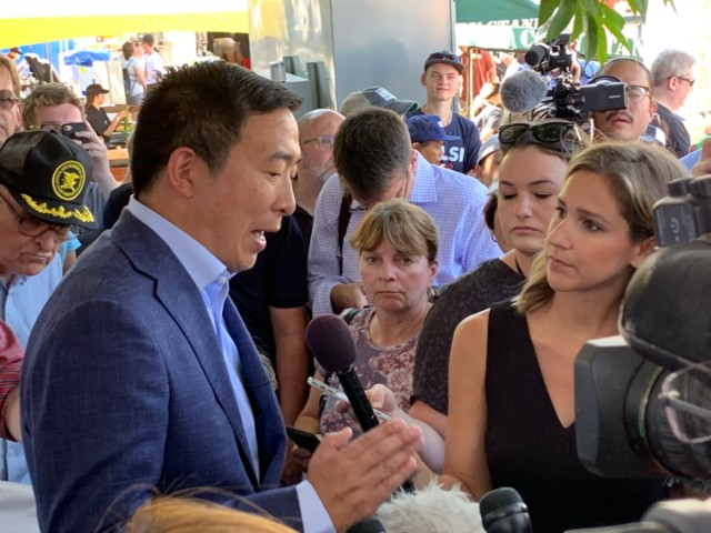 Andrew Yang Says Only U.S. Citizens Would Get $1,000 per Month He Vows