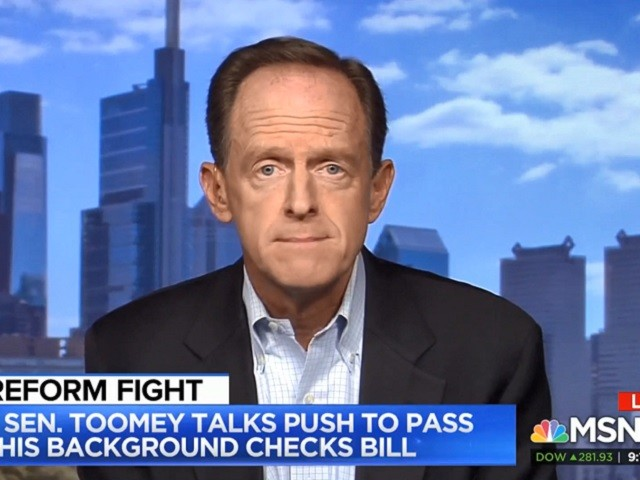 Toomey: I Think Trump Is 'Open to Considering Broadening Background Checks'