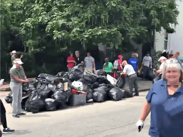 Pro-Trump Activist, Volunteers Collect 12 Tons of Trash in West Baltimore