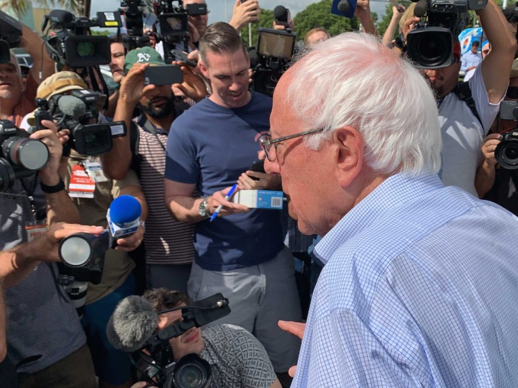 Report: Bernie Sanders Staffers Rough up Journalists at Iowa State Fair