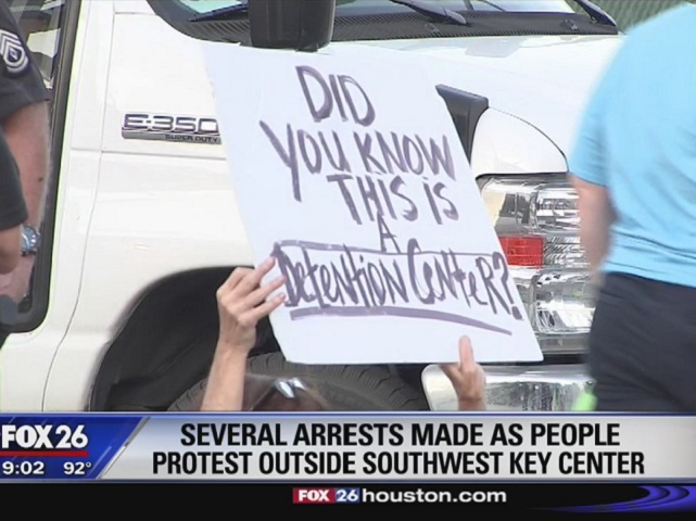 Six Protesters Arrested at Texas Migrant Children's Detention Center