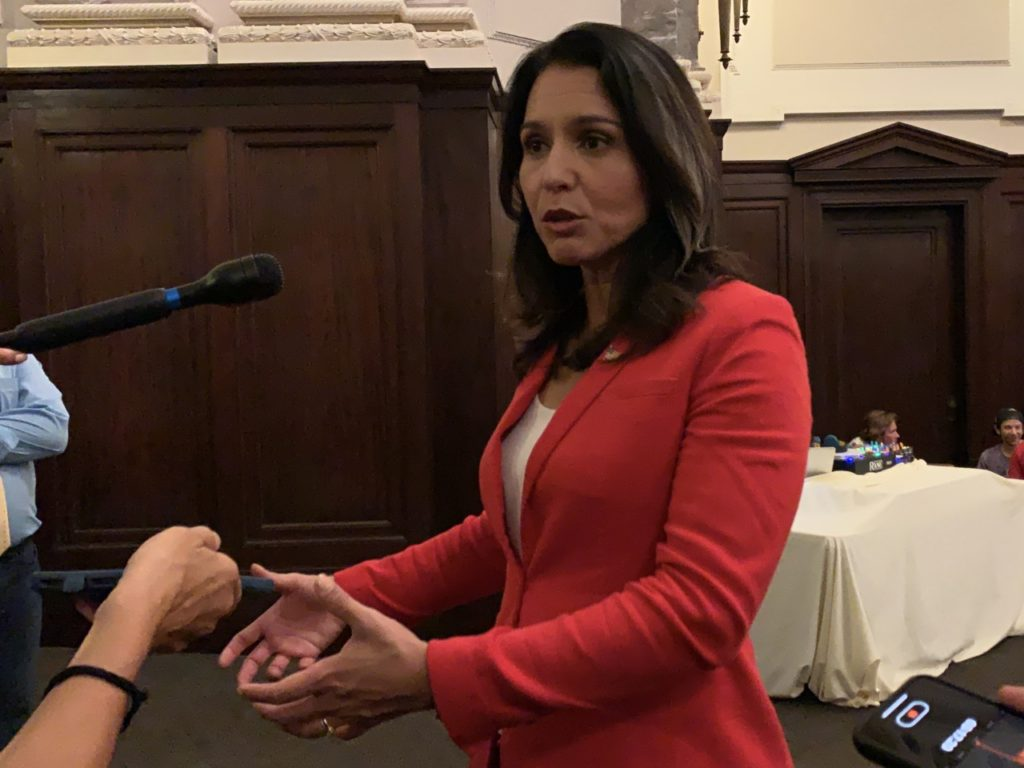 Tulsi Gabbard Only Major Democrat Candidate Against Impeachment