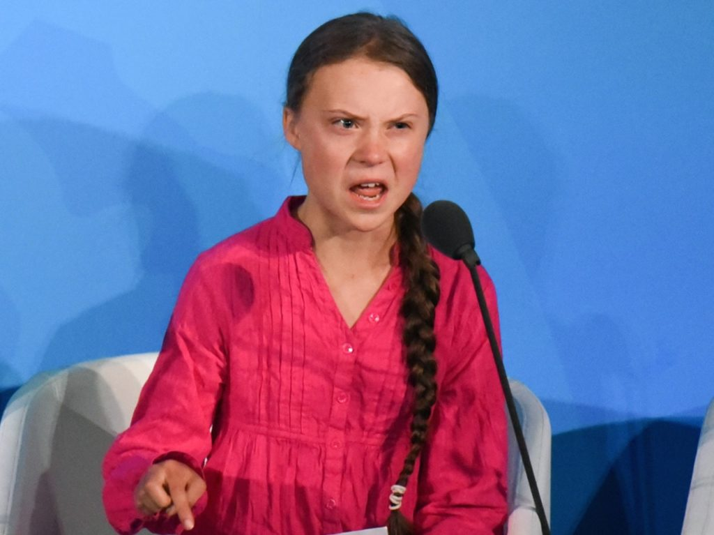 Trump Trolls Greta Thunberg: 'She Seems Like a Very Happy Young Girl'