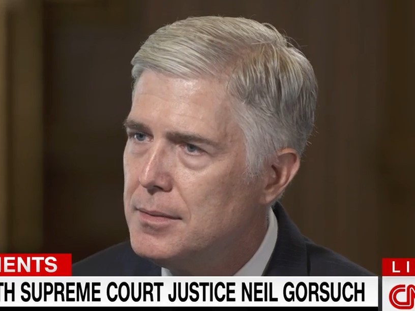Supreme Court Justice Gorsuch Rejects Idea of 'Hard Right Turn' by SCOTUS -- 'I've Got Great Confidence in America'