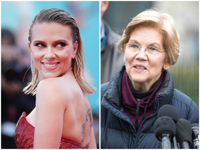 2020: Scarlett Johansson Wants Elizabeth Warren to Beat Trump