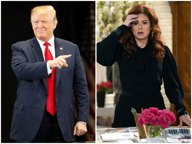 Trump Mocks Debra Messing After She Called for Outing His Hollywood Fundraiser Attendees