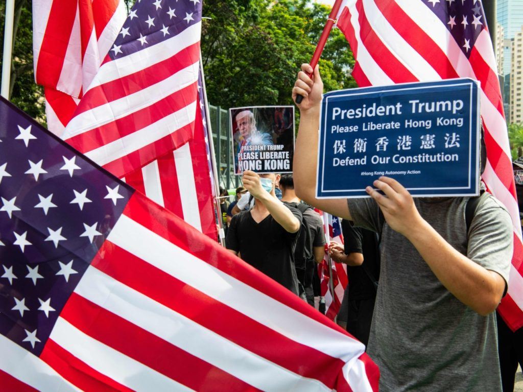Watch: Hong Kong Protesters Appeal to Donald Trump to 'Liberate' Them