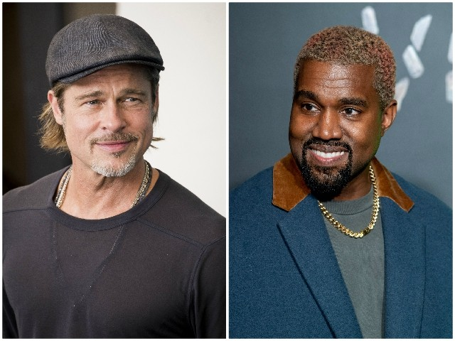 Brad Pitt Attends Kanye West's 'Sunday Service' in Watts, California