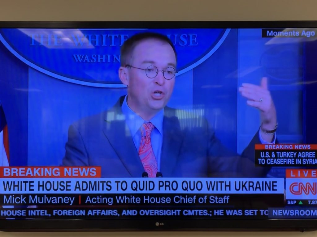 CNN Falsely Claims White House 'Admits to Quid Pro Quo' with Ukraine