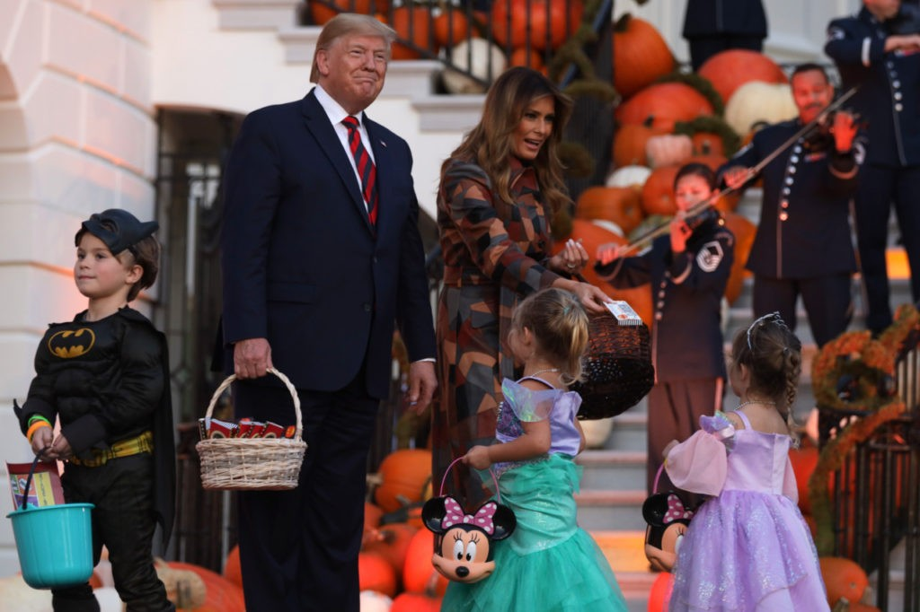 Watch: Donald Trump and Melania Trump Goof with 'Minion' Costumed Child at the White House