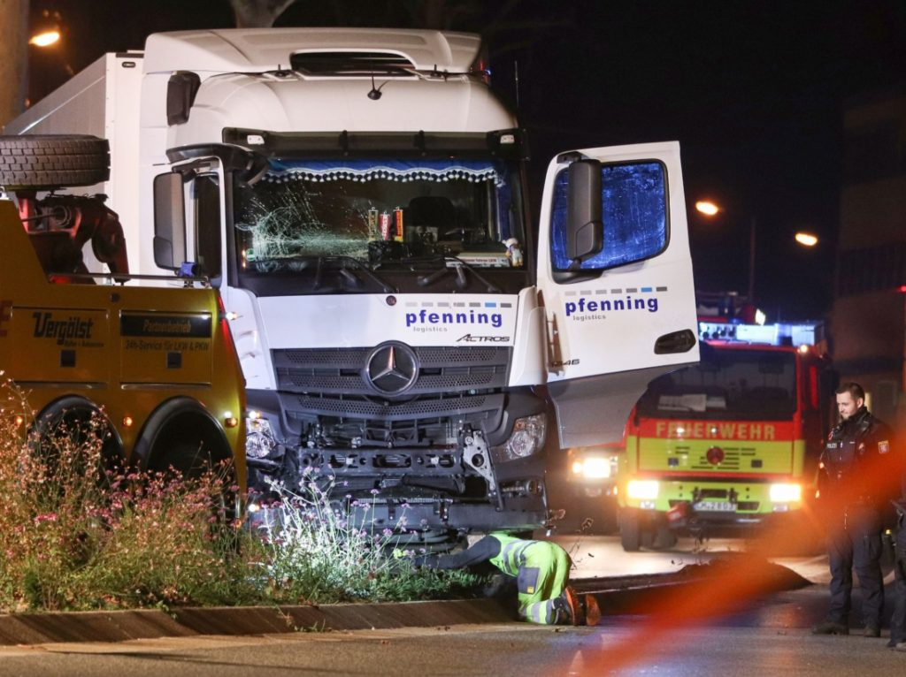 German Police Arrest Syrian Migrant After Hijacked Truck Rammed into Traffic, Seven Injured