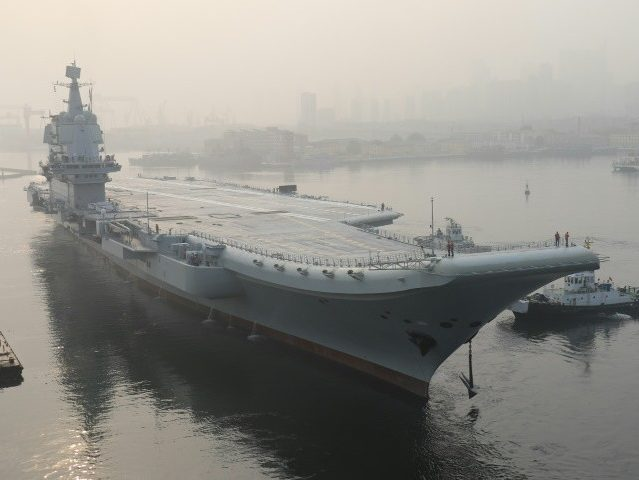 China Sails Unnamed Second Aircraft Carrier near Taiwan