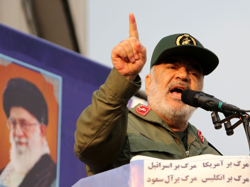 'Solid Slaps Are Coming': Iran's General Salami Warns U.S., Israel, and U.K. Are 'Doomed'