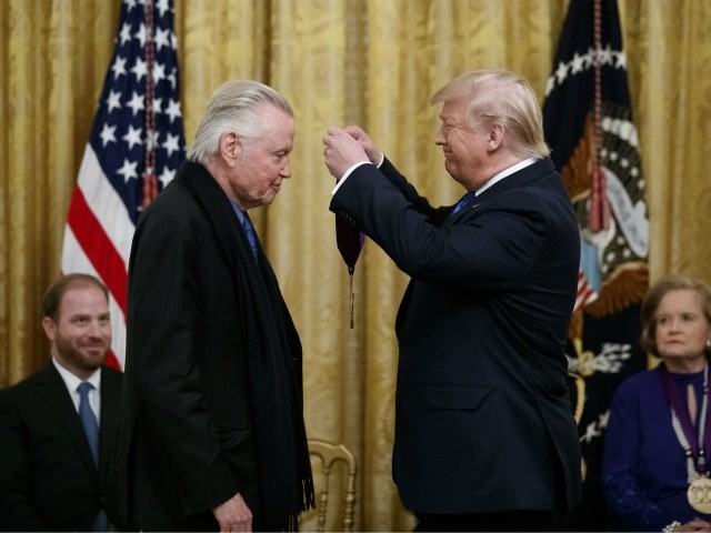 Donald Trump Awards National Medal of Arts to Actor Jon Voight at White House
