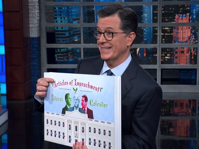 Obsession: Stephen Colbert Kicks Off Holiday Season with 'Impeachment Advent Calendar'