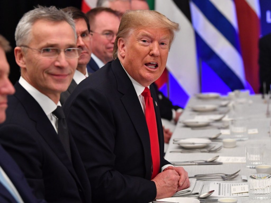 As Trump Heads to Two-Percenter NATO Club Lunch, Praises Tremendous, Stronger Alliance