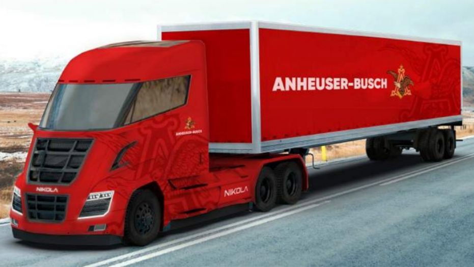 Anheuser busch ordering 800 hydrogen powered semis from for Nikola motors stock price